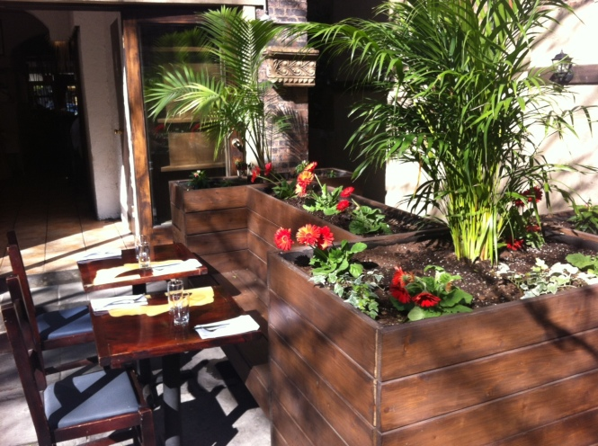 Giano's beautiful garden area is open to diners from April to October.