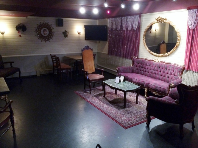 The Red Room seats 45 and makes an ideal location for your next party!