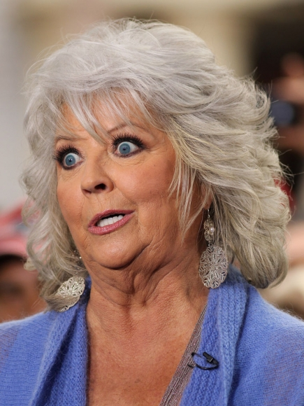 When questioned about the health of her foods as well as her recent scandals, Paula Deen melted into a pool of butter and escaped down a storm drain.