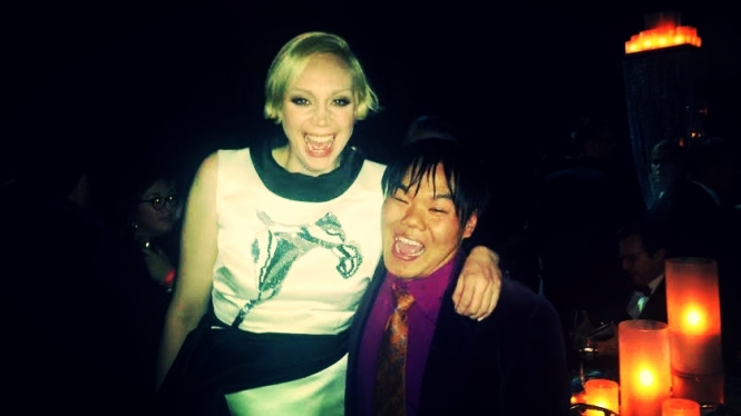 Brienne of Tarth (Gwendoline Christie) agreed to a photo as long as I promised to scream with her. It was a long, good scream--made me feel like a warrior!