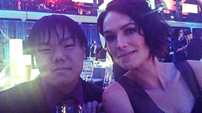 I drank wine with Queen Regent Cersei Lannister (Lena Headey)