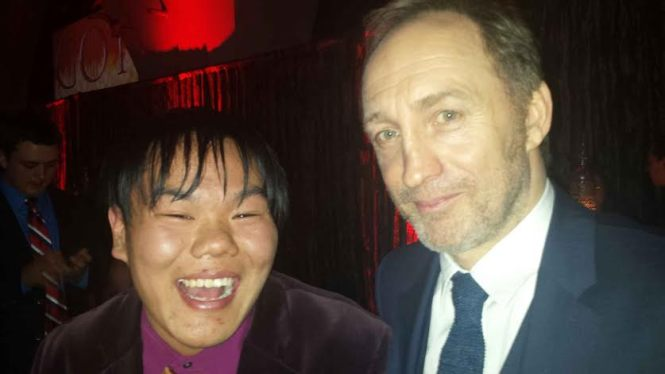 I asked Roose Bolton (Michael McElhatton) to do something menacing for the camera, but he doesn't take direction. Just look what happened to the King in the North...