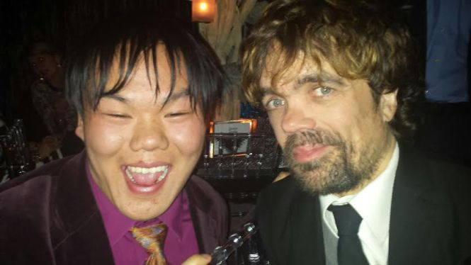 I jested with Tyrion Lannister (Peter Dinklage)!