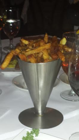 Pommes Frites. I still don't know if i'm allowed to call them French Fries...