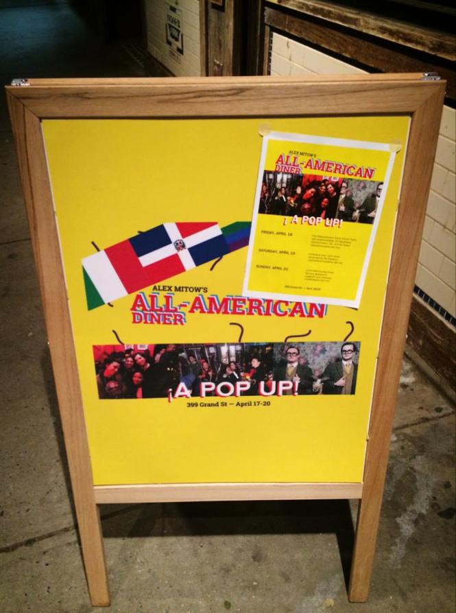 Alex Mitow's All-American Diner graced Grand Street from April 17th-19th