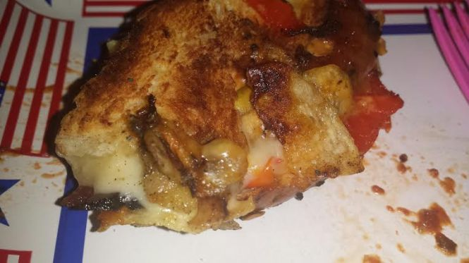 Alex Mitow's delicious variant of a grilled cheese sandwich, made famous at The Big Cheesy.