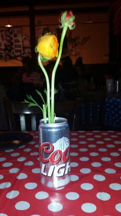 All-American Beer Can Vase