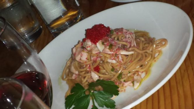Taglierini with Giant Lump Crab Meat and Herring Roe