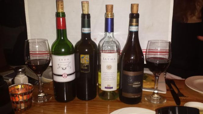 Italian Wines are available by the glass. Da Marcella also has a full-service bar in the back
