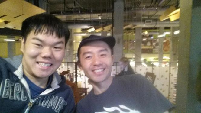 A picture of me with Chef Yuji Haraguchi, shortly before the closure of the LES location.