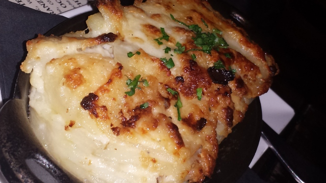 Potato Au Gratin with Truffle Oil