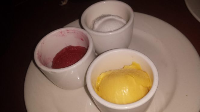 Sorbet Trio - Raspberry, Coconut, and Mango